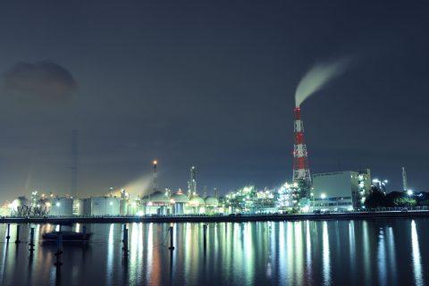 【工場夜景】四日市ドームにて
